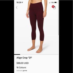 Lululemon Align Crop